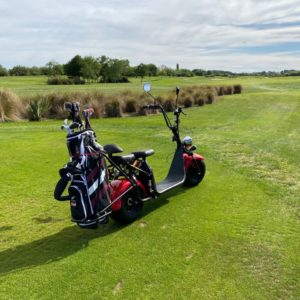 Image Of Electric Scooter On A Golf Course