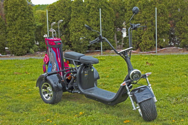 trike with grass n golf rack